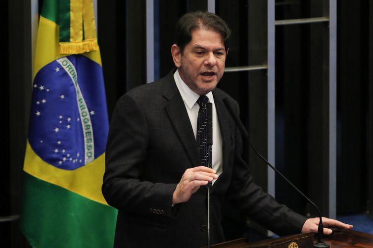 O relator da PEC 98/2019, senador Cid Gomes, durante a votação da cessão onerosa do pré-sal